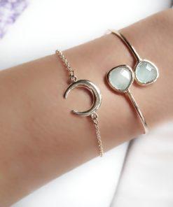 bracelet corne demilune