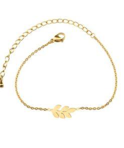 bracelet feuille femme