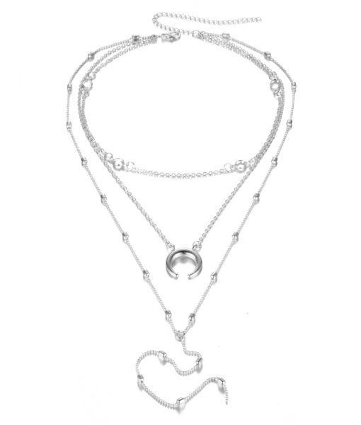 collier corne femme