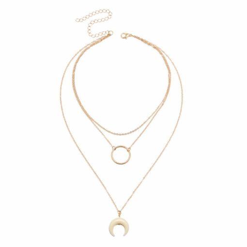 collier pendentif corne cadeau