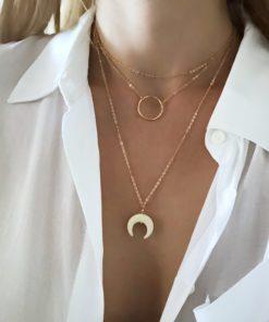 collier corne original pour femme