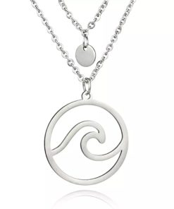 collier pendentif vague