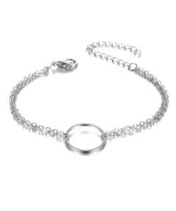 bracelet cercle argente