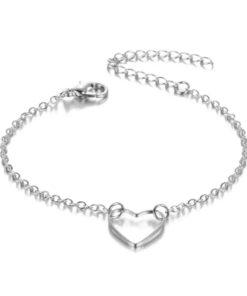 bracelet coeur argente pas cher
