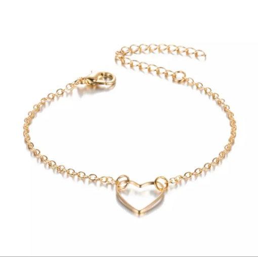 bracelet coeur dore petit prix