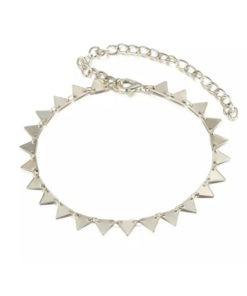 bracelet argente triangle