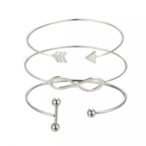 bracelet argente femme pas cher