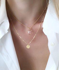 collier cadeau pierre rose