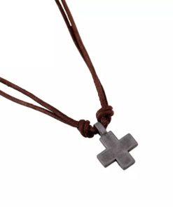collier croix homme