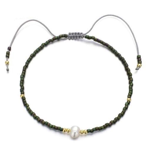 bracelet cordon vert