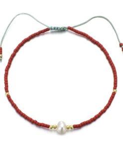 bracelet tendance rouge
