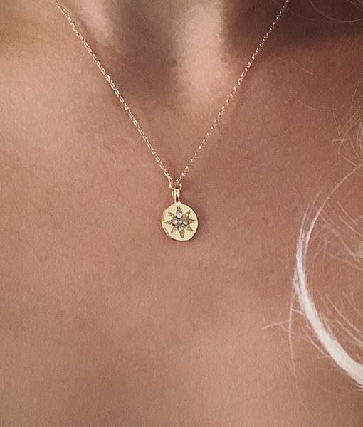 collier femme dore