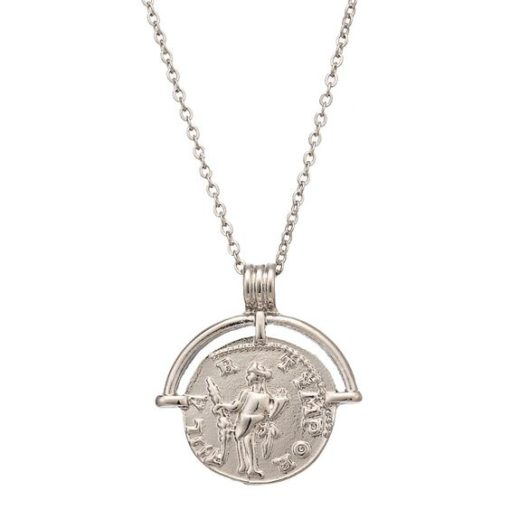 collier medaille argente