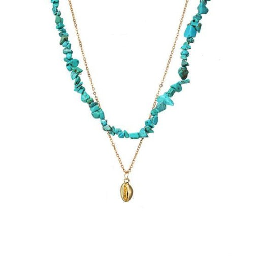 collier tendance turquoise