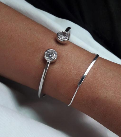 Bracelet tube argent