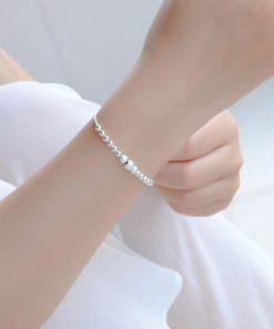 bracelet argent portebonheur femme