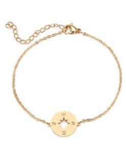 bracelet boussole cadeau femme