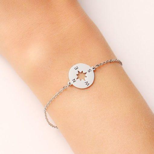 bracelet boussole femme