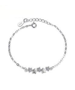 bracelet createur etoile argent