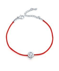 bracelet cordon rouge