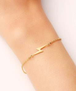 bracelet fantaisie flash dore