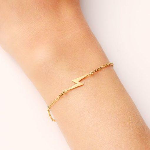 bracelet fantaisie flash dore