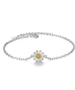 bracelet fleur argent 925