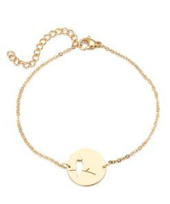 bracelet medaille oiseau