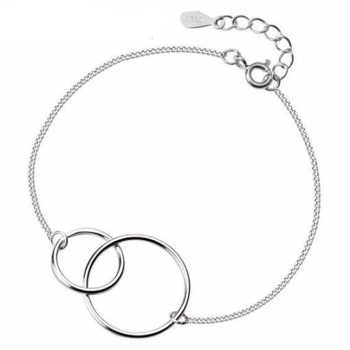 bracelet minimaliste argent femme