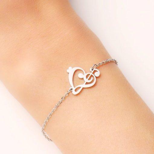 bracelet musique argent