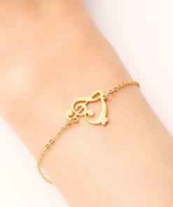 bracelet musique or