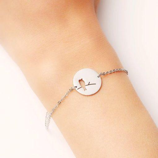bracelet oiseau sur branche