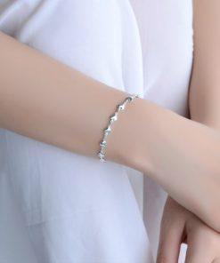 bracelet avec coeur en argent