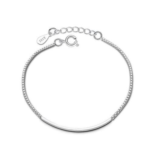 bracelet tube argent femme