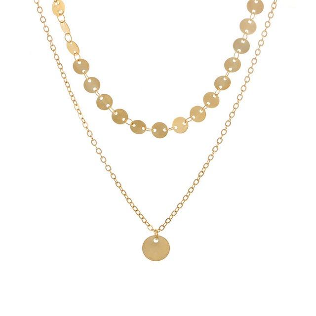 collier doré femme