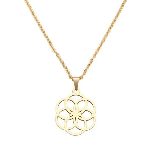 collier fleur original