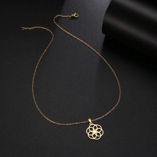 collier fleur original femme