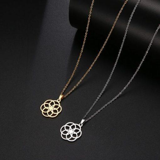 collier fleur original pour femme