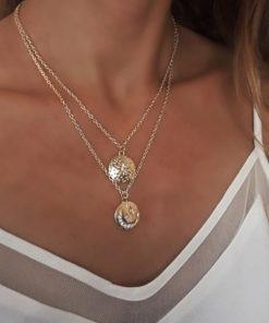 collier medaille cadeau femme pas cher
