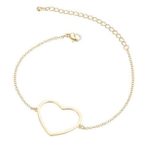 Bracelet coeur or