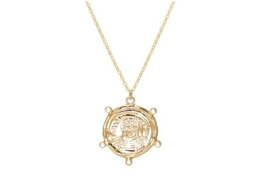 collier pendentif medaille