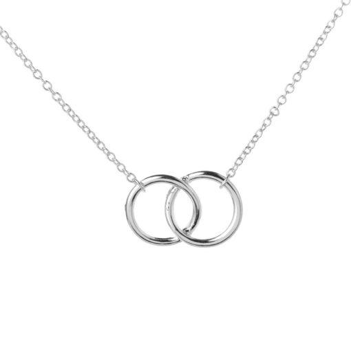 collier anneaux argent