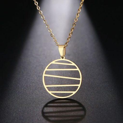 collier dore pendentif tendance