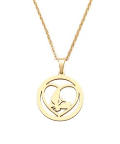 collier medaille coeur