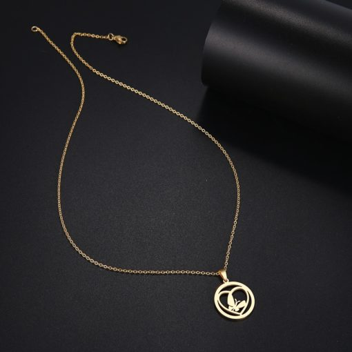 collier medaille coeur femme