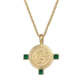 collier medaille dore