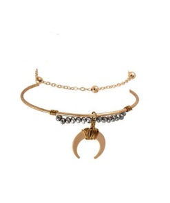 Bracelet jonc corne lune