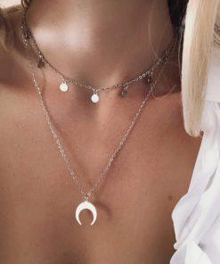 collier double rang tendance cadeau