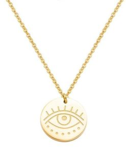 Collier medaille oeil