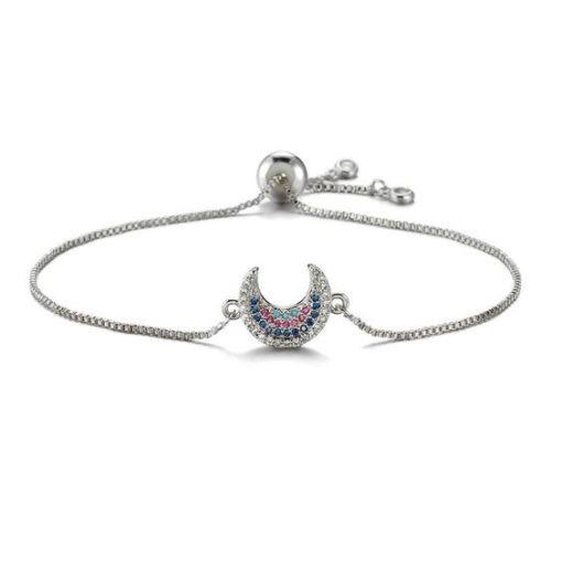 bracelet demi lune argente